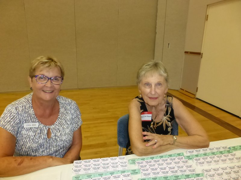 Linda and Slyvia sold lots of raffle tickets.